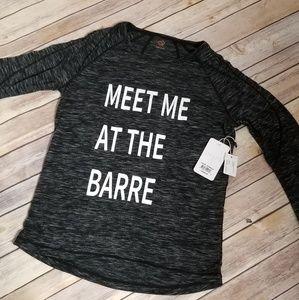 Shape brand Barre lounge shirt. New w/tags